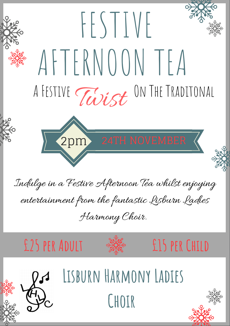 Festive Afternoon Tea at Edenmore Golf Club
